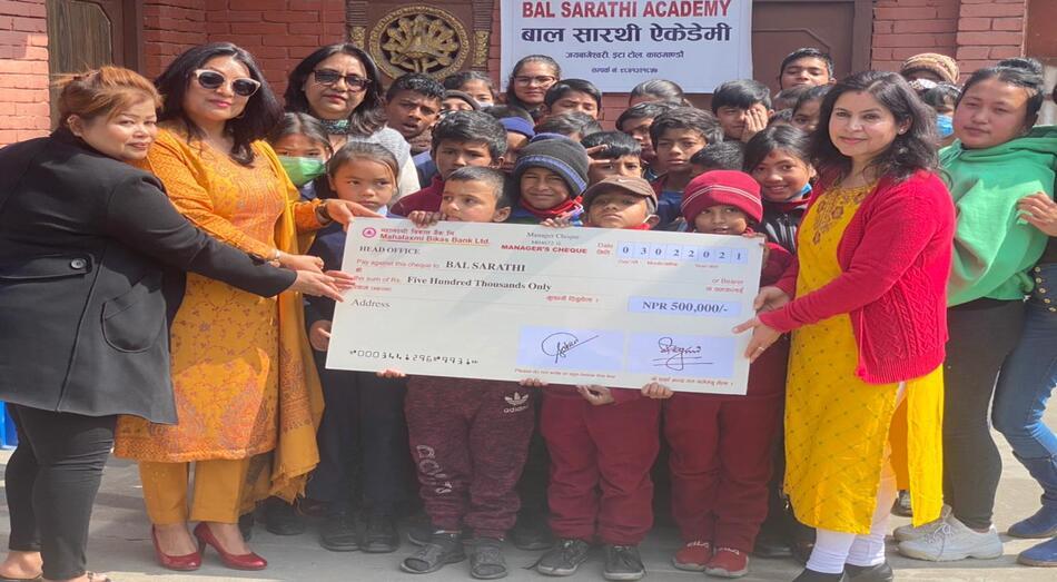 Financial Help to Bal Sarathi